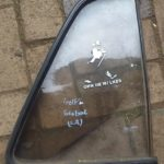 VW Golf 2 Quarter Glass - Used