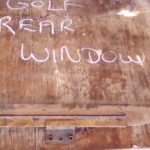 volkswagen golf 1 right rear window - USED(GPO)