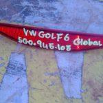 volkswagen golf 6 rear reflector - USED(GPO)